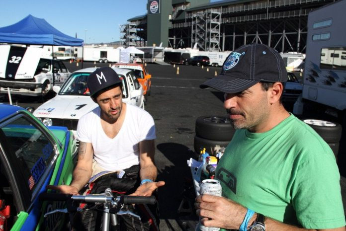 Sandro Espinosa and Mark Issa towed their cars out from a Southeast Region event at Daytona International Speedway the weekend before the Western States Championships in Sonoma, Calif.