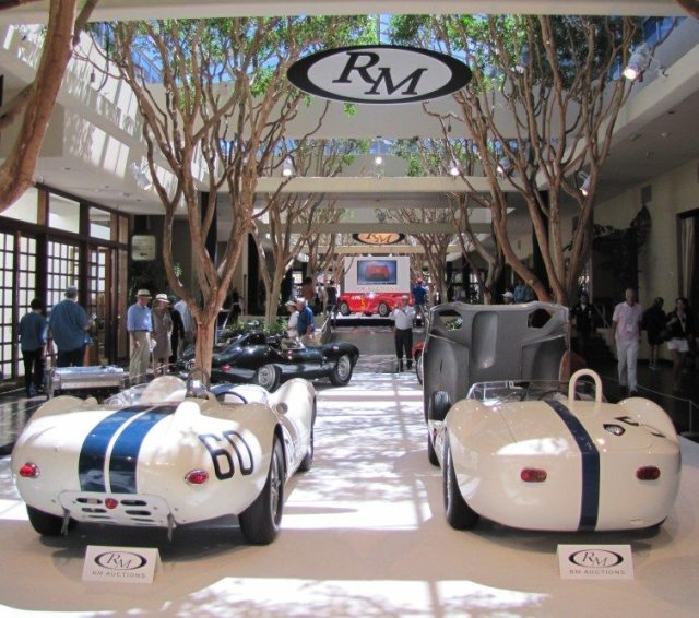 During Car Week, the city of Monterey fills with vintage racing cars of all kind, with many of them offered at auction.