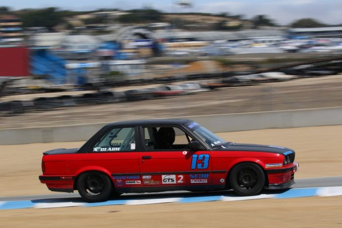 Andrew Clark battled Timothy Carman, but came up just a bit short to finish third in GTS2.
