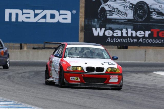 Hugh Stewart started from dead last and finished on the last step of the podium in GTS3.