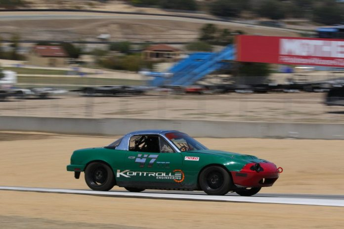 Justin Ross scored the win in TTE in his Mazda Miata with a 1:45.449. He too is a semifinalist for the Mazda Club Racer Shootout.