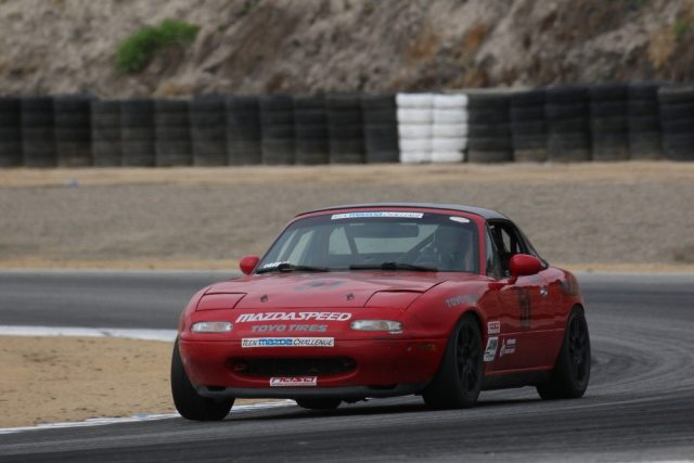 Matthew Cresci started from 20th in his street-driven 1.6-liter car and finished second in Spec Miata.
