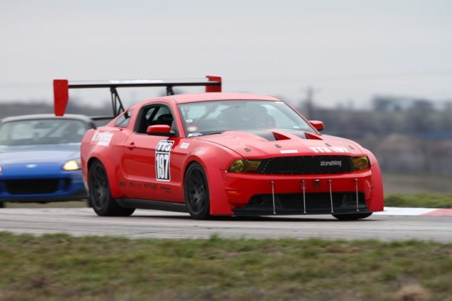Amy and Terry Fair drove their Vorshlag Motorsports Mustang to the TT3 win on Saturday and Sunday at Motorsports Ranch.