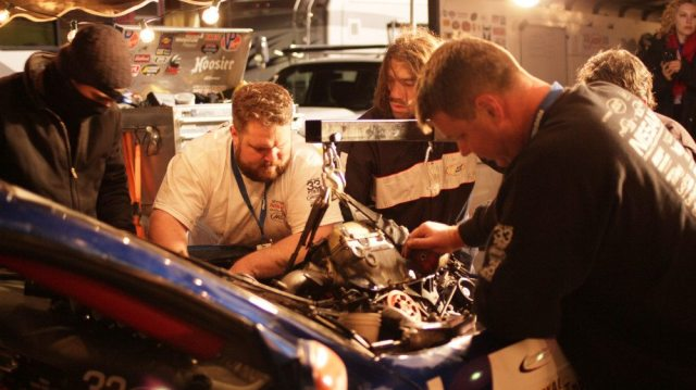 Without a spare engine ready to go into the car, there is no point in having the crew pull the blown engine out. Spare crew members. Spare parts. You need lots of both to finish the 25.