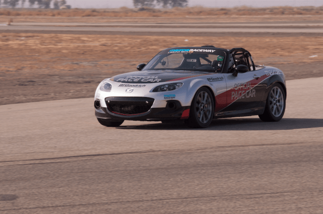 Drivers competed for fast laps at the Shootout in an MX-5 Cup Car Mazda provided. Each driver was given time to become acclimated to the car before competing for time.