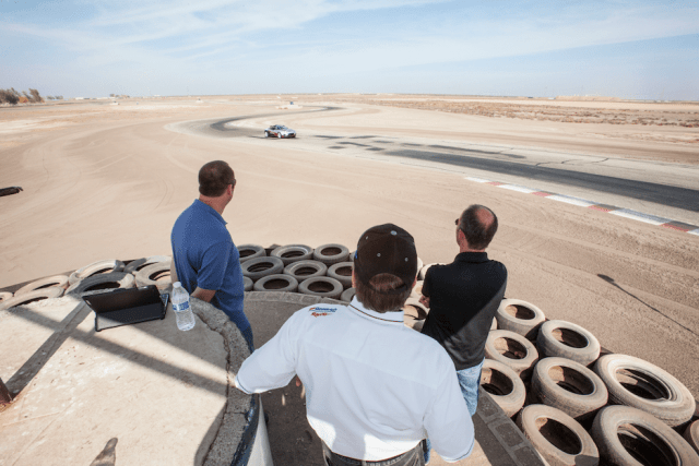 Judges observed the finalists' driving from corner worker stations around the east loop of Buttonwillow Raceway Park.