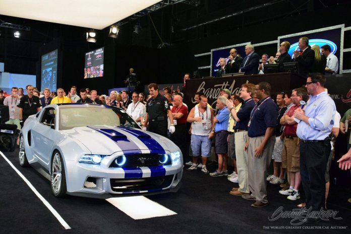 """Barrett-Jackson auctioned one of two remaining Mustangs from the movie """"Need for Speed."""" Proceeds from the sale went to the nonprofit Henry Ford Health System."""