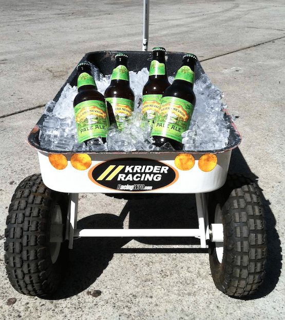 When the race is over, kick the gas cans out and fill the pit wagon with some ice and some brews, and instantly you'll become the most popular person in the paddock.