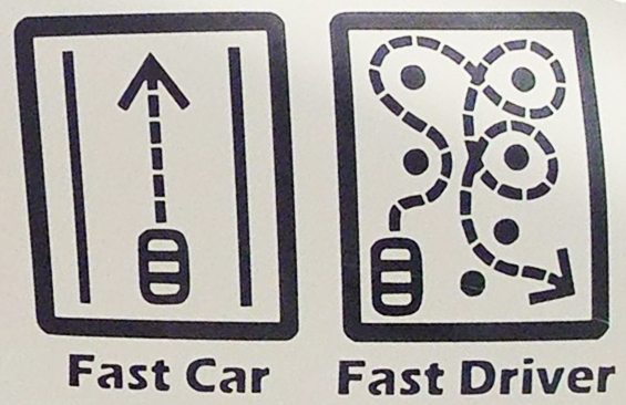Fast Car Fast Driver Sticker