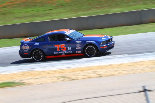 Aaron McSpadden started on pole, but had to overcome an early-race spin to finish second.