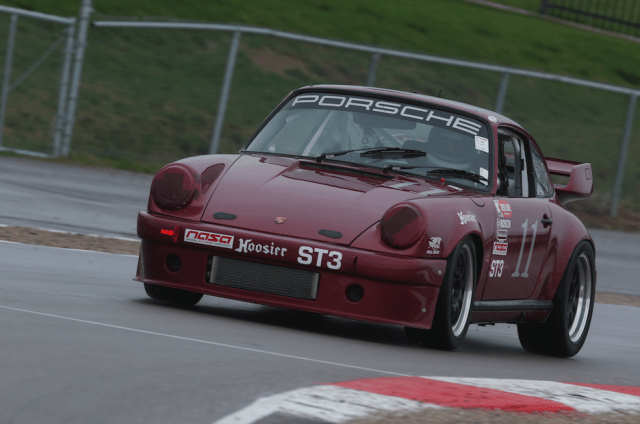 Matt Mandino took his air-cooled Porsche to a third-place finish in ST3.
