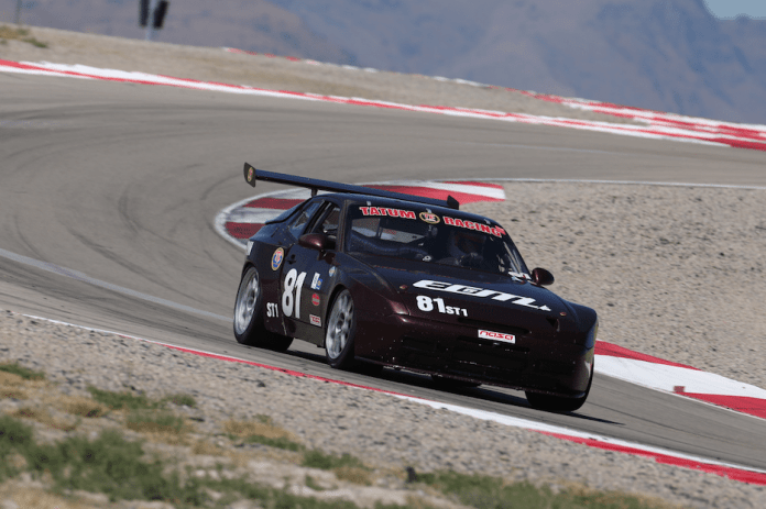 Dan Worley started and finished in second in a Porsche 944 Turbo.