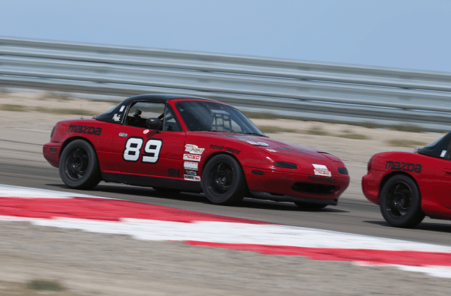 Kyle Loustanau advanced from 10th on grid, survived a post-race protest and took home second in Spec Miata.