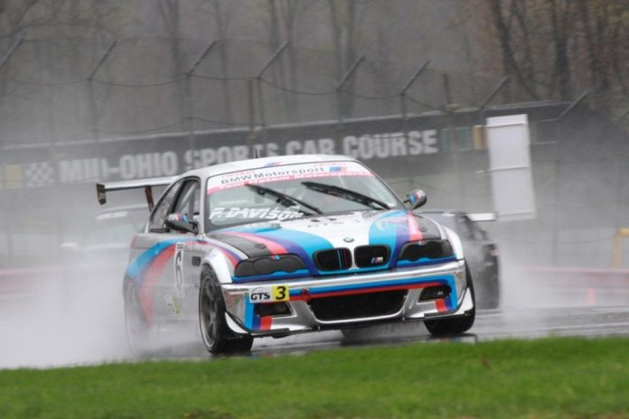 Paul Davison was disqualified for being a few pounds underweight in GTS3 on Saturday, but went on to win in the rain on Sunday.