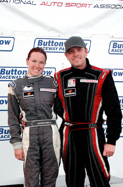 Rather than racing against each other, the husband-and-wife team joined together to race their BMW M3 in E1 in the Western Endurance Racing Championship series.