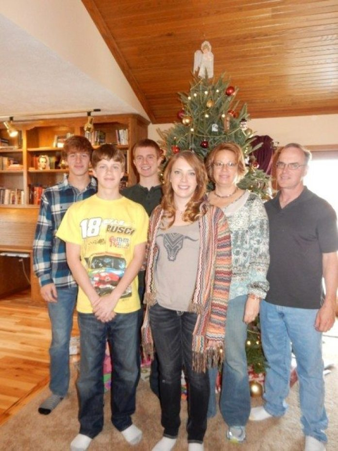 From left: Warren, Ryan, Dillon, Jessica, Kathy and Zane Dexter.
