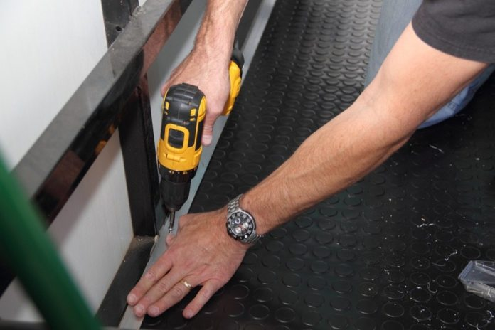 By using screws just a little bigger than the pilot holes in the floor, you'll get a nice tight anchor.