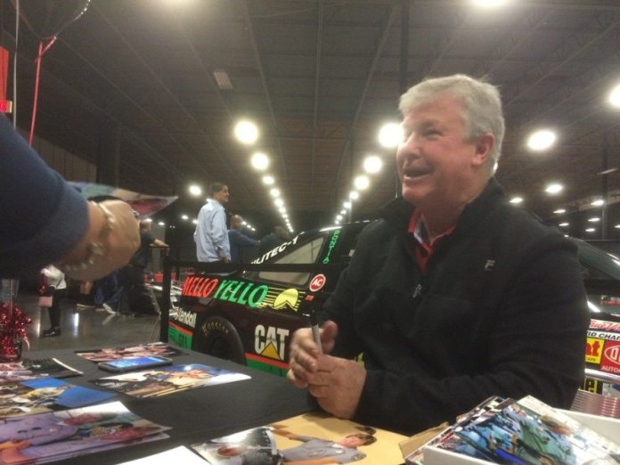"""Actor Larry Wilcox, who played officer Jon Baker on the TV show """"CHiPs"""" signed autographs at the Race For Youth."""