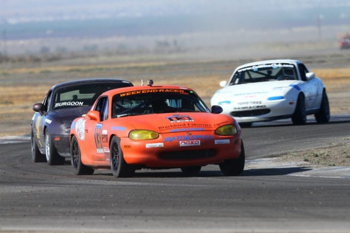 John Mueller improved his personal best lap time and actually led a lap of the Spec Miata race, something that hasn't happened for more than 10 years.