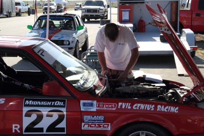 Doing your own mechanical work at the track saves money, but it takes time away from focusing on racing.