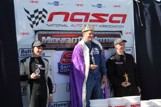 From left: Scott Phillips held the lead only briefly, and Rob Burgoon came home with the inaugural California Crown with David Dodge in third.