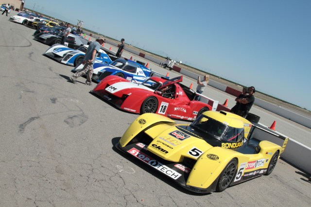 Six NP01s gridded up for the inaugural race of the Pacific Championships series race for NASA Prototypes.