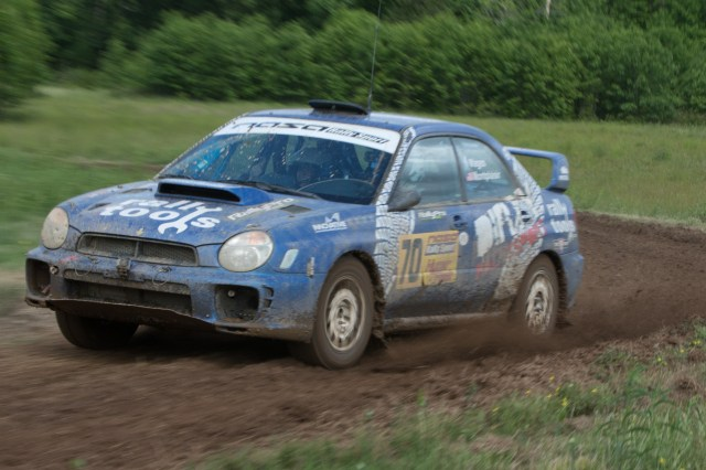Drivers were offering ride-alongs on a rally course set up on the VIR property.