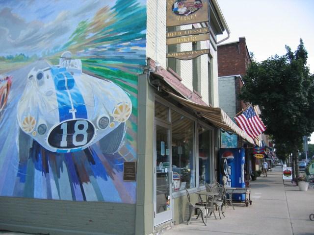 Mural in downtown Watkins Glen