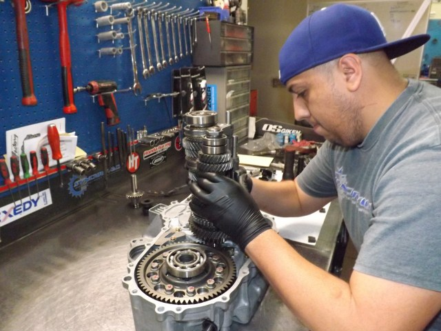 Watching the guys at Synchrotech install the gear stack in the transmission made me realize I never want the responsibility of doing that job. That is something that needs to be done by the experts, and I'm no expert.