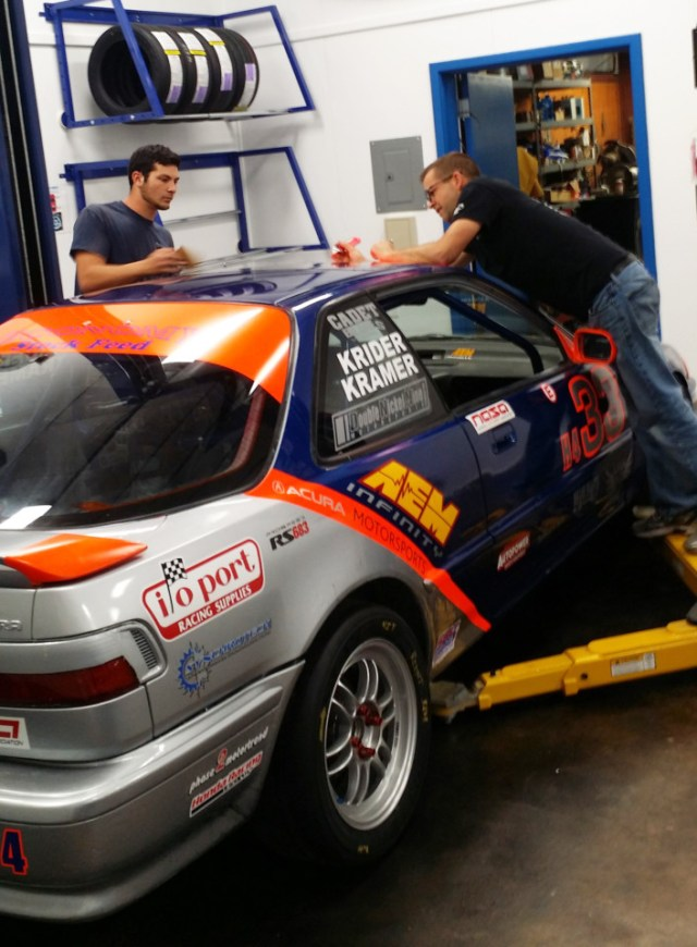 Once the shop was complete, we put it into action by building a Honda Challenge car. It was amazing how much quicker the build went with adequate lighting, a lift, easy access to air lines, organized tools, and a dedicated work space for the car.