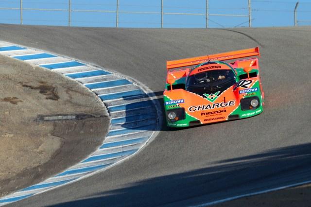 The 767B takes on the iconic Corkscrew at Mazda Raceway Laguna Seca.