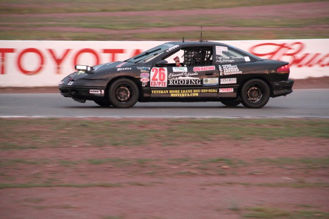 Team Sampson Racing drove its Saturn SC2 to yet another iron-man win in E3 at Willow Springs.