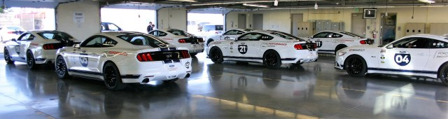 The school cars are 2015 FPRS Mustangs, which are good for 435 horsepower and 400 pound-feet of torque.
