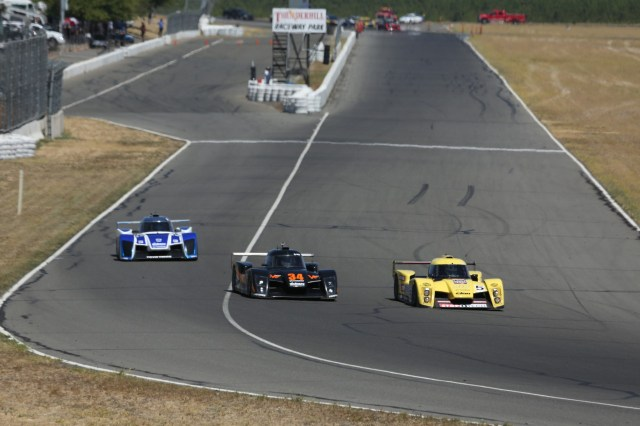 No. 34 Team Valkyrie Autosport's Brian Lock battled all weekend with Andy Lee in the Team StopTech NP01 at Thunderhill in August. Lock took the win on Saturday and Sunday.