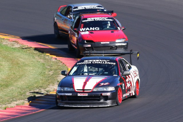 Jonathan Baker started from second to last in the 15-car field to finish third in HC2.