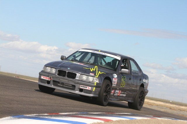 Mike Dovorany made a last-lap pass on Sean Aron to take third in GTS2.