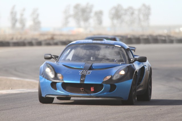 Anthony Lanza took his Lotus Exige to a third-place finish in PTB.