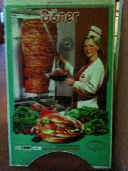 Döner-Frau-Plakat