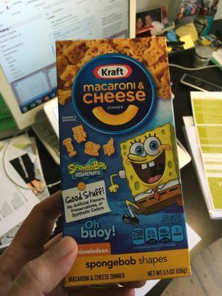 Kraft Macaroni +Cheese Spongebob