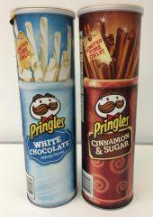 Pringles in den Geschmacksrichtungen Weiße Schokolade und Zimt und Zucker - sehr speziell!