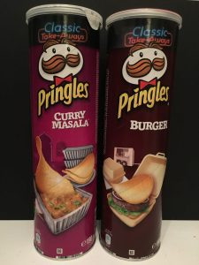 Pringles Serie Classic Take Away mit Curry Massala und Burger.