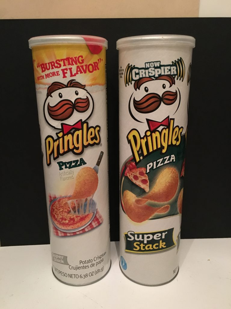 "Pringles Pizza in normaler Größe und als ""Super Stack""."