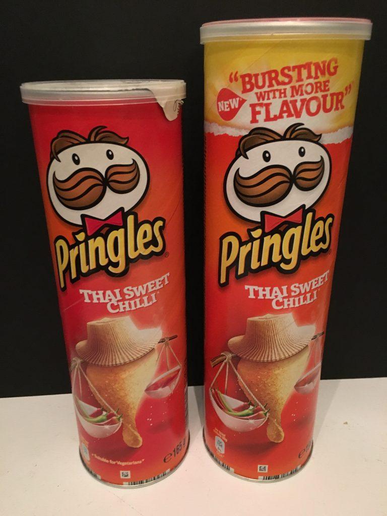 Pringles Tha Sweet Chilli in klein und groß, 2015