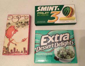 Kaugummi Smint mit Wassermelone und Dessert Delights von Extra (Wrigley's).