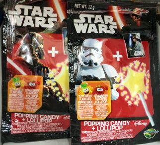 Star Wars-Popping Candy mit Lollipop von Dracco / Knister-Lolies