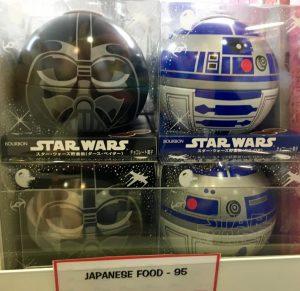 Star Wars Pralinen in spektakulären Verpackungensvarianten (Darth Vader, R2D2), gesehen in Macao