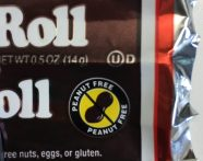 Sign Peanut free Toffee