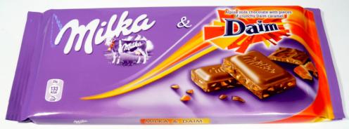 Mondelez Tafelschokolade Milka mit Daim
