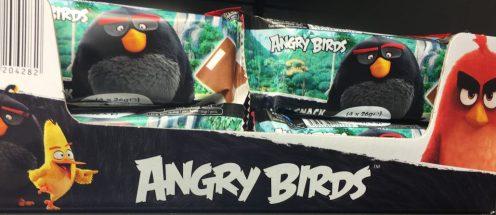 Angry Bird Film auf Joghurts.
