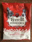 Tyrrell's Poshcorn summer strawberries + cream